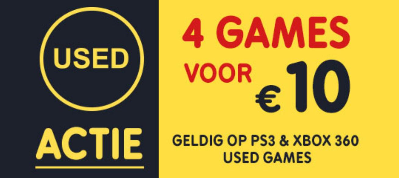 USED actie: 4 games PS3/360 voor €10 @ Gamemania