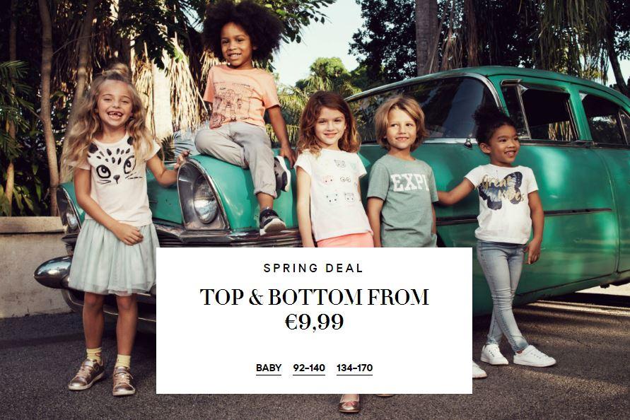 Kids Top + Bottom €9,99 @ H&M