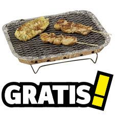 Gratis houtskool wegwerp barbecue bij elke bestelling @ Conrad