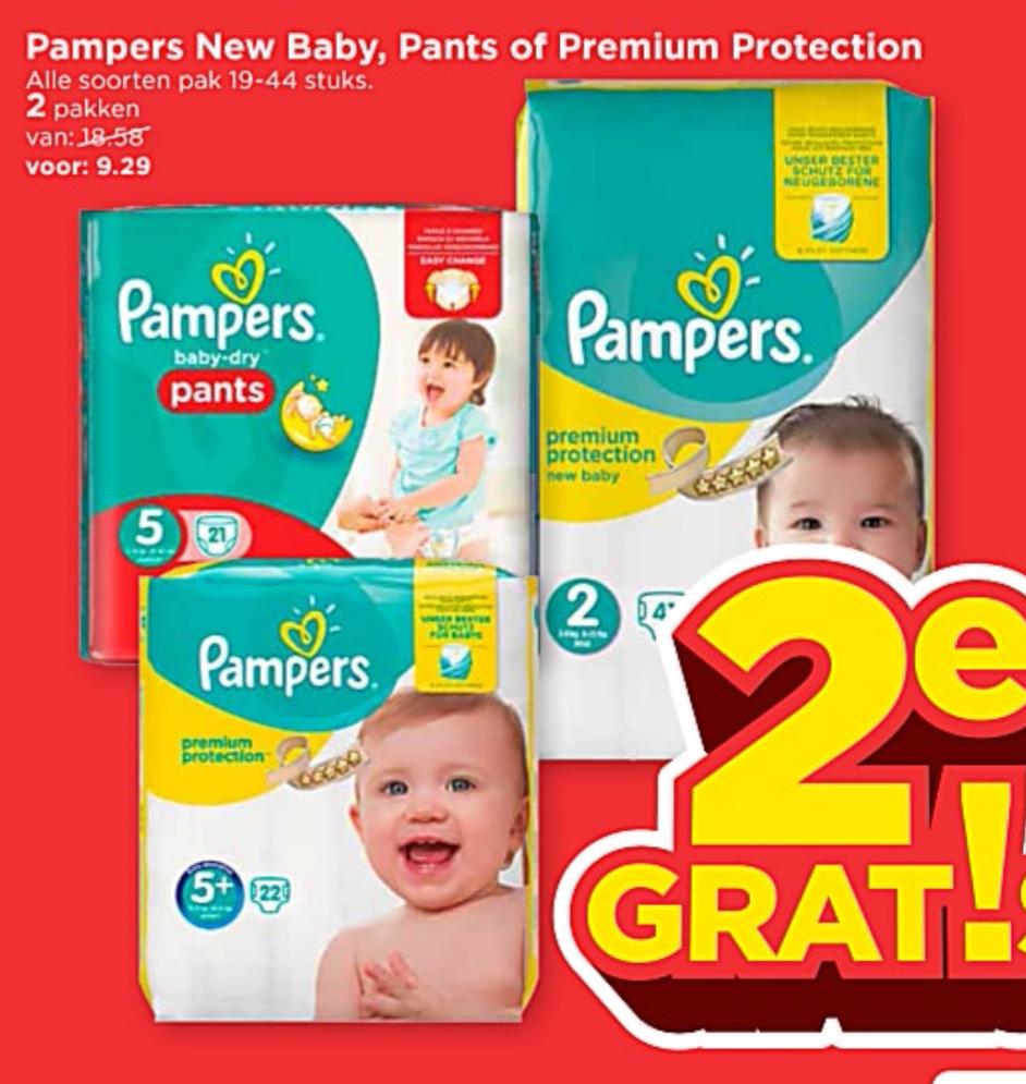 Pampers 2e gratis @ Vomar