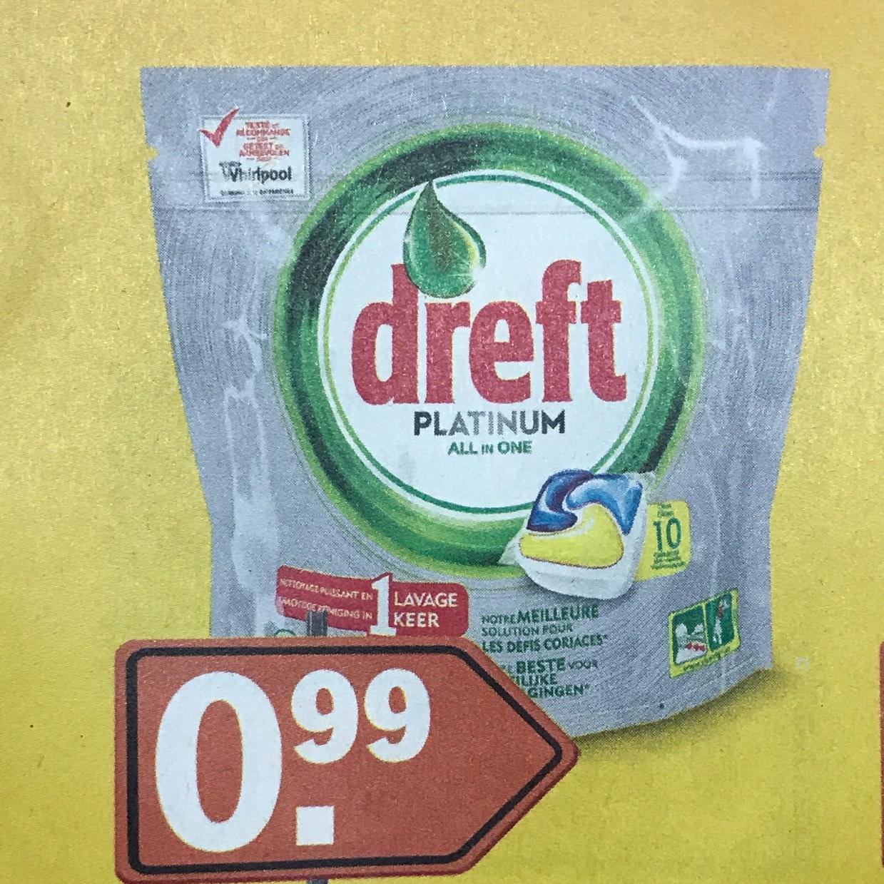 Dreft Platinum All-in-one Citroen vaatwastabletten