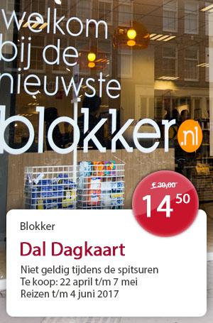 Vanaf zaterdag treinkaartjes voor € 14,50 bij Blokker