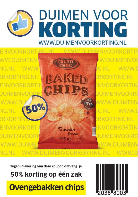 50% korting op één zak ovengebakken chips @ Lidl