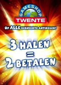 3 halen = 2 betalen op alle artikelen @ Gameshop Twente