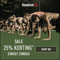 Friends & Family pre-sale (met code) 25% korting - ook op outlet @ Reebok