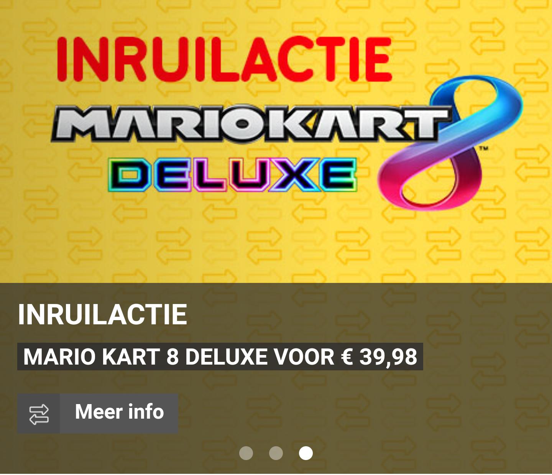 Inruilactie: Mario Kart 8 Deluxe Switch voor €39,98 bij inleveren van Mario Kart 8 Wii U @ Gamemania
