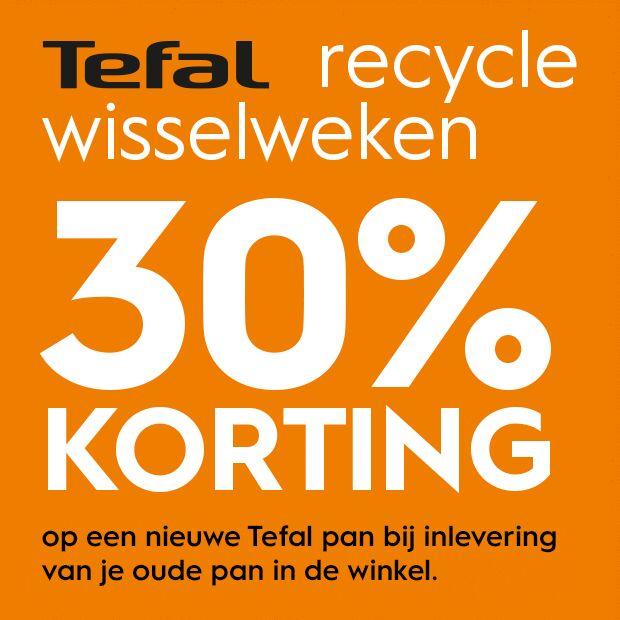 30% korting op een nieuwe Tefal pan bij inlevering van een oude pan @ Blokker.nl