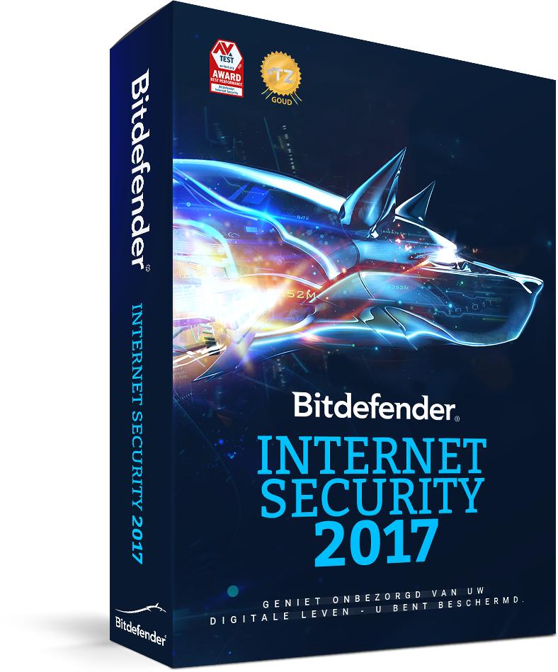 Bitdefender Internet Security 2017 - 1 jaar 3 apparaten voor EUR 15,11