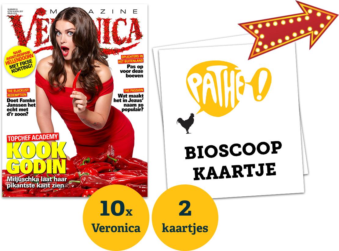 2 gratis Pathé bioscoopkaarten @ Veronica magazine