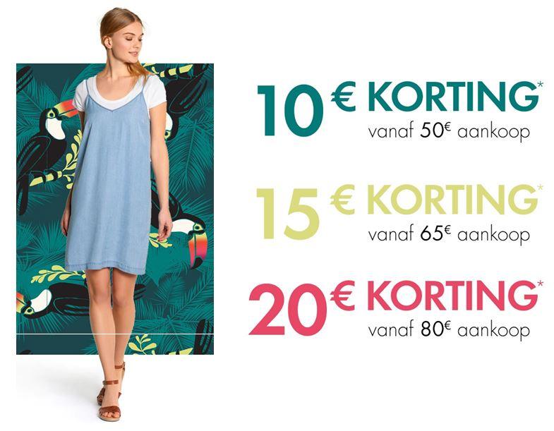 Vandaag €10 - €20 korting (va €50) @ Kiabi