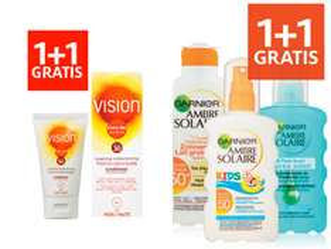 Vision + Ambre Solaire zonbescherming 1+1 gratis @ Etos