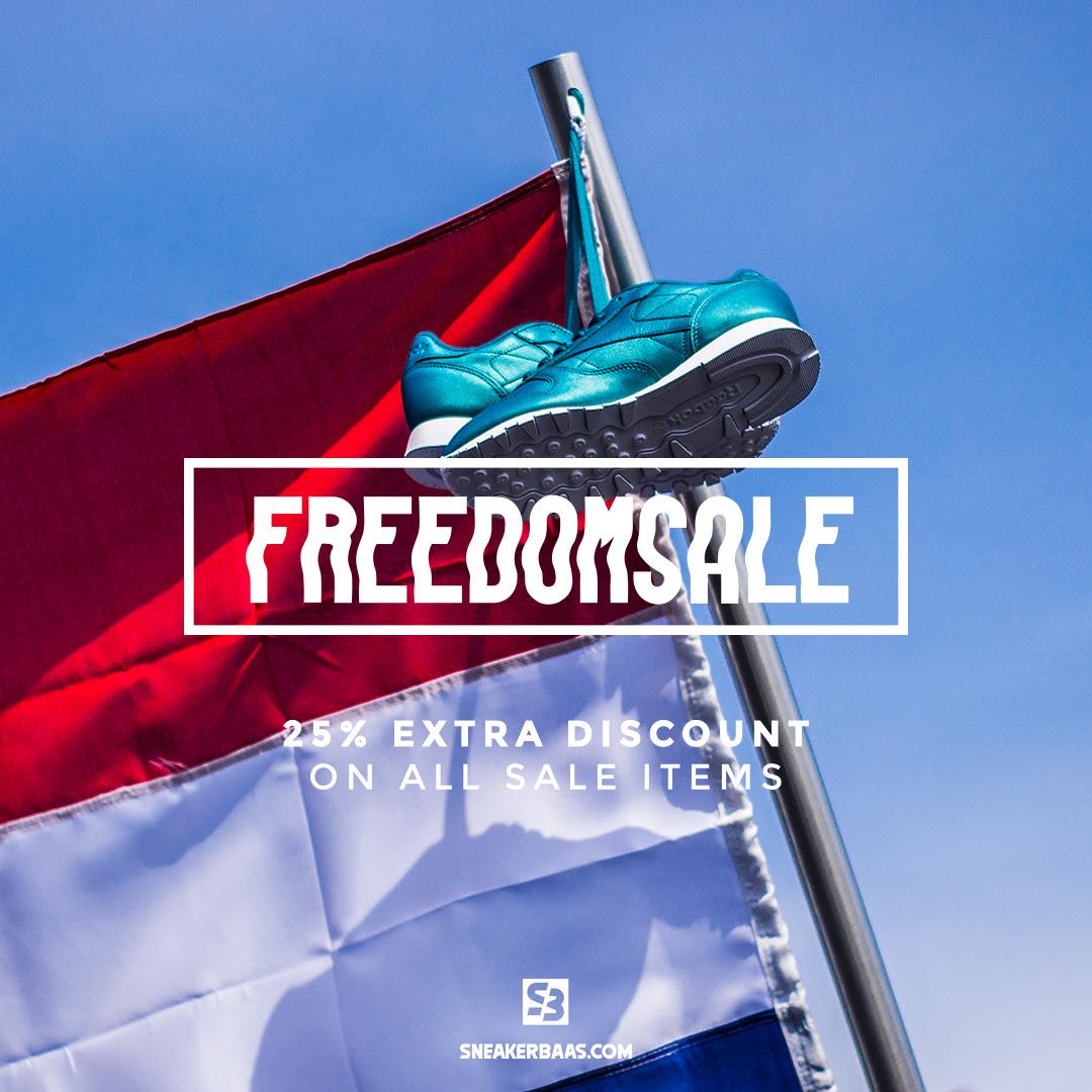 25% extra kassakorting op sale @ Sneakerbaas