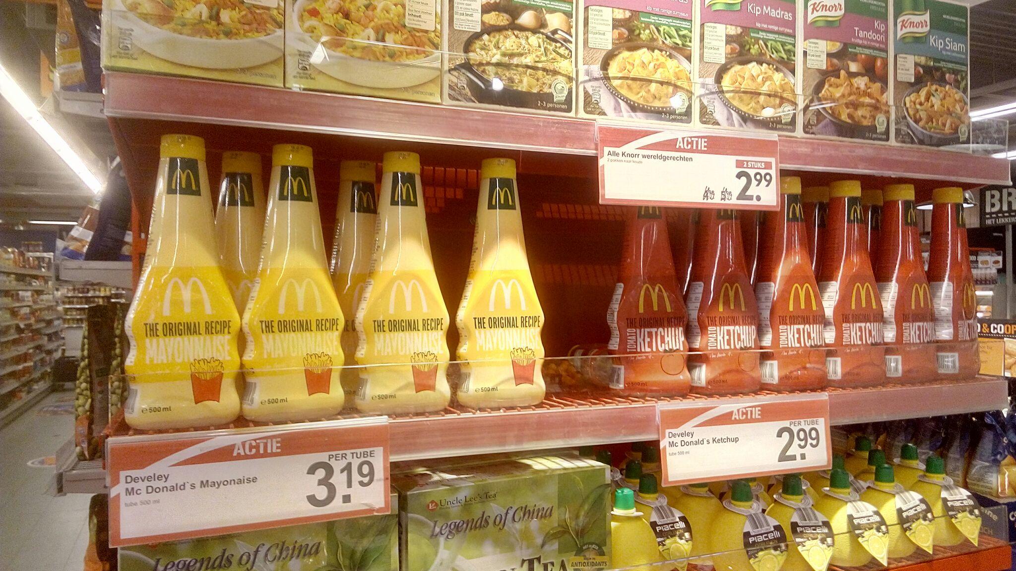 MacDonald saus voof €2,99 @ COOP