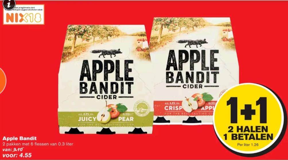 Apple Bandit sixpacks 1 betalen +1 gratis @ Hoogvliet