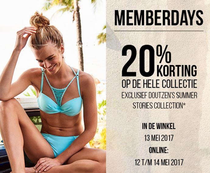 Memberdays: 20% korting @ Hunkemöller