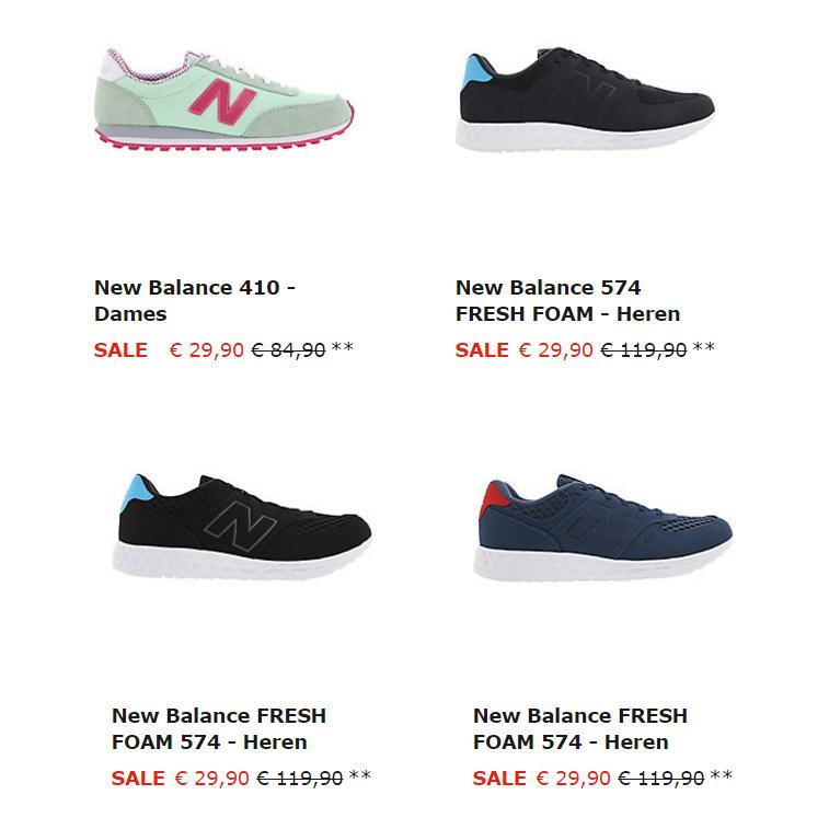 New Balance sneakers €29,90 - 4 modellen @ Sidestep (ex verzending)