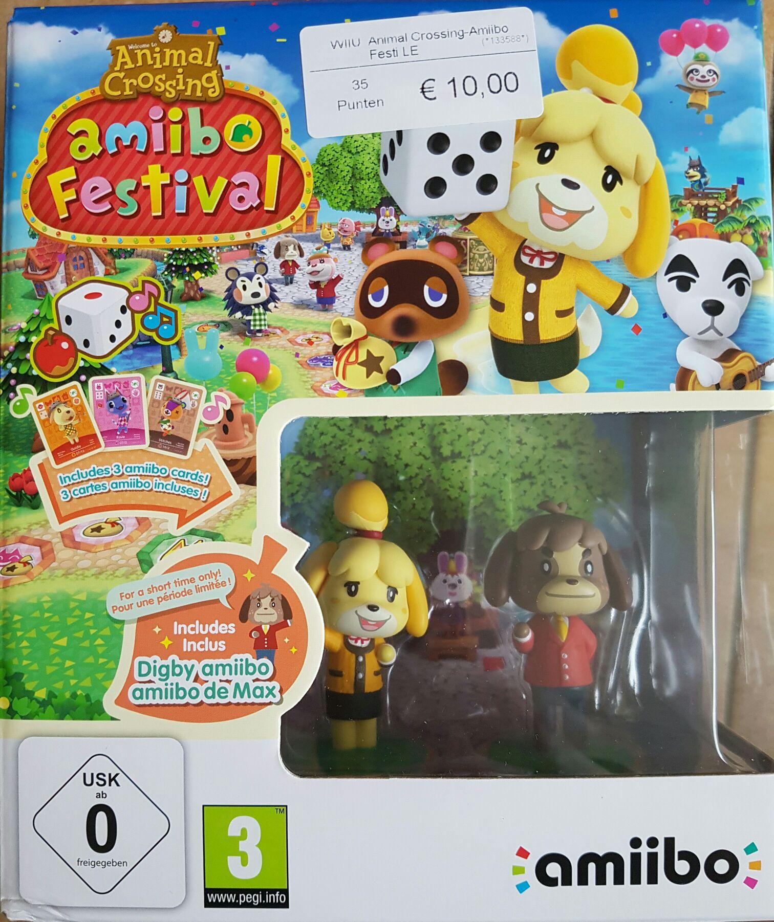 WiiUAnimal Crossing - Amiibo Festival + 2 Amiibo + 3 Amiibo Cards voor €10 @ Game Mania