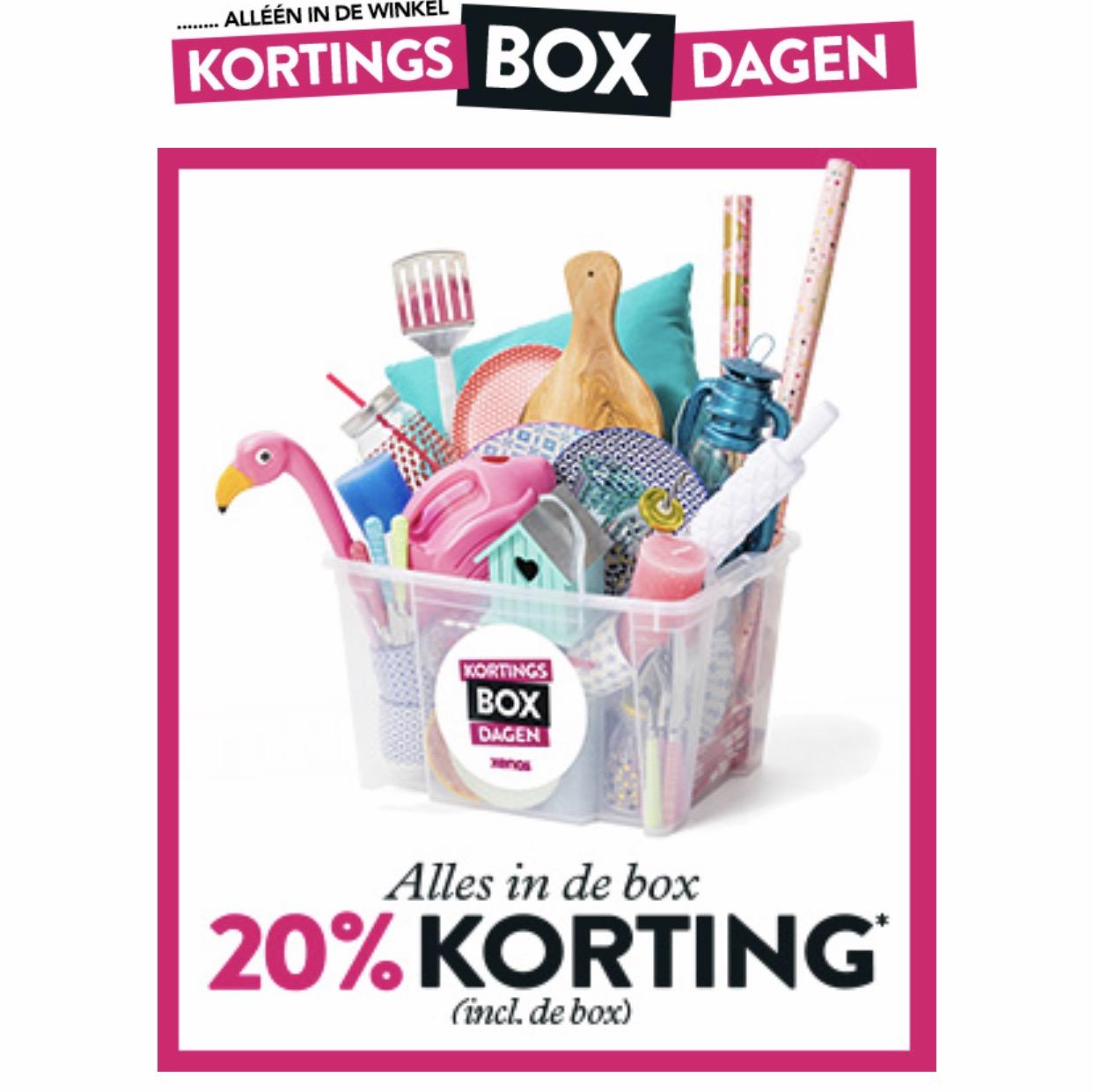 Kortingsbox dagen 20% korting @ Xenos