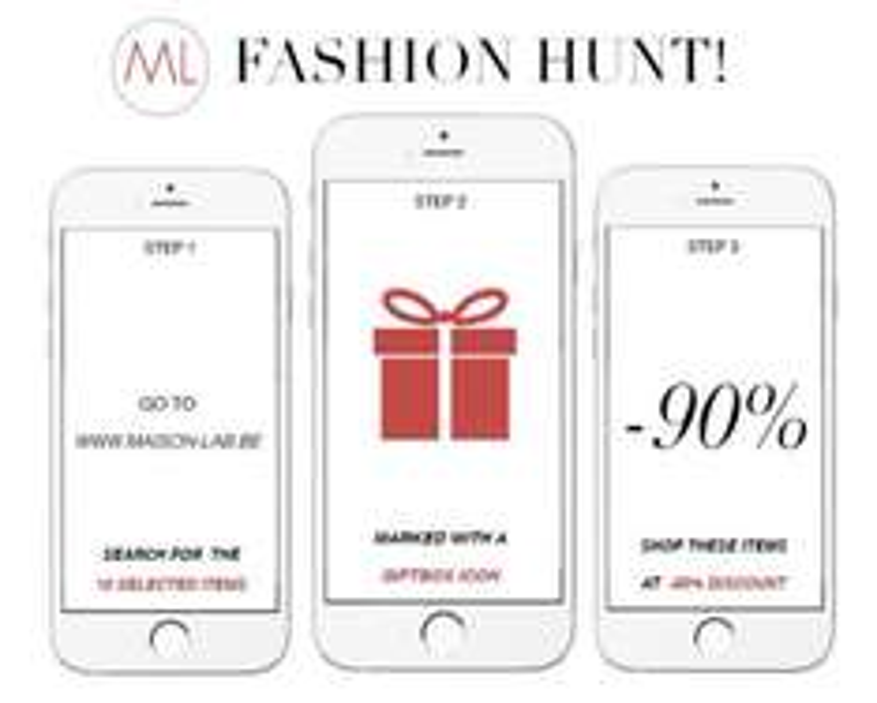 Fashion Hunt: elke dag 10 artikelen met 90% korting @ Maison Lab