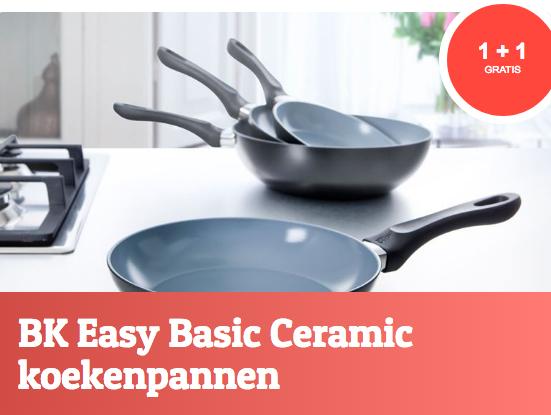 BK Easy Basic Ceramic pannen 1+1 Gratis @ Fonq.nl