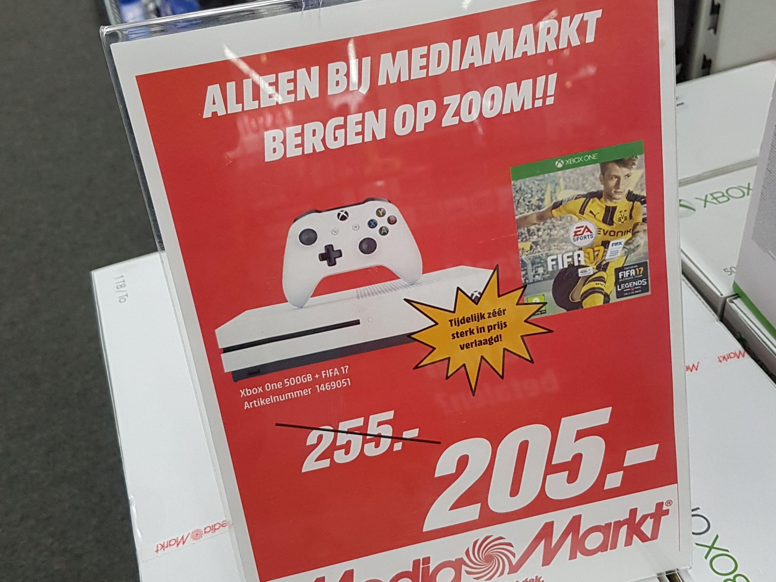 Xbox one S 500gb + fifa 17 @ Mediamarkt Bergen op Zoom