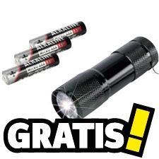 Gratis LED-zaklamp met batterijen bij je bestelling vanaf €50 @ Conrad