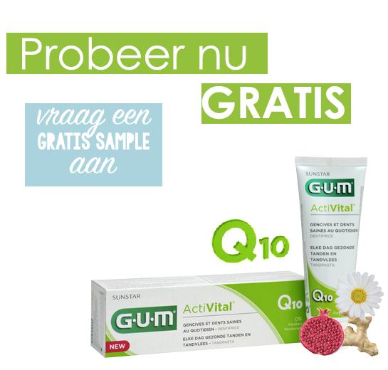 Probeer gratis G.U.M. Activital tandpasta @ We Like Your Smile