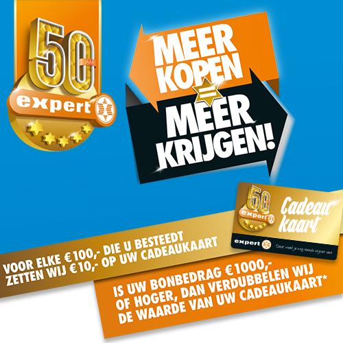 €10 giftcard bij elke €100 besteding (€20 vanaf €1000) @ Expert