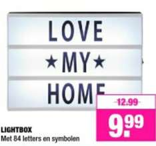 Lightbox €9,99 @ big bazar