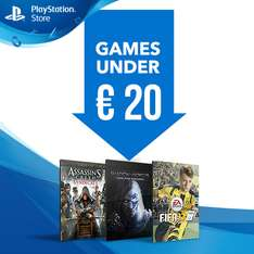 Games onder €20 (o.a. FIFA 17 voor €19,99) @ PlayStation Store