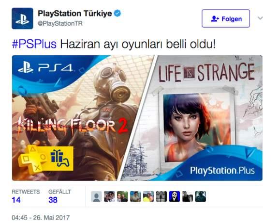 Killing Floor 2 en Life is Strange PS4 gratis met PlayStation Plus