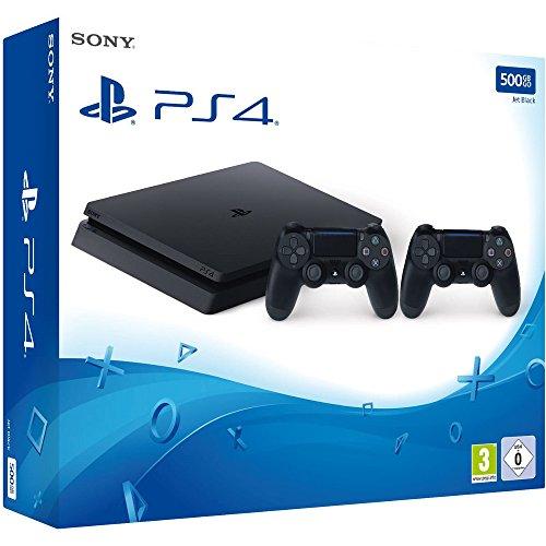 PS4 Slim 500GB met twee dualshock 4 controllers v2 voor €222 @ Amazon.de