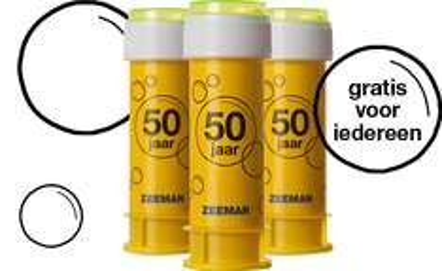 Gratis bellenblaas bij iedere aankoop @ Zeeman