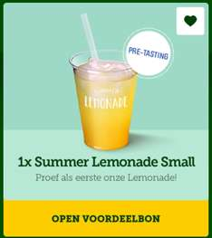 Gratis 1x Summer Lemonade Small @ MC Donalds