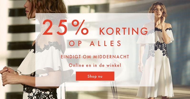 25% korting op alles - ook bovenop sale/outlet @ Karen Millen