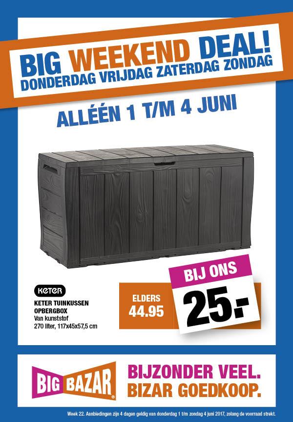 Keter opbergbox 270 liter voor €25 @ Big Bazar