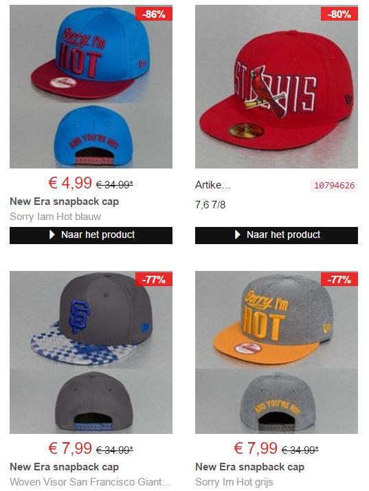 New Era caps tot 86% korting va €4,99 @ Defshop