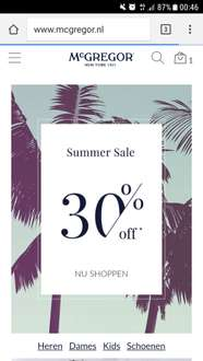 Summer Sale gestart McGregor