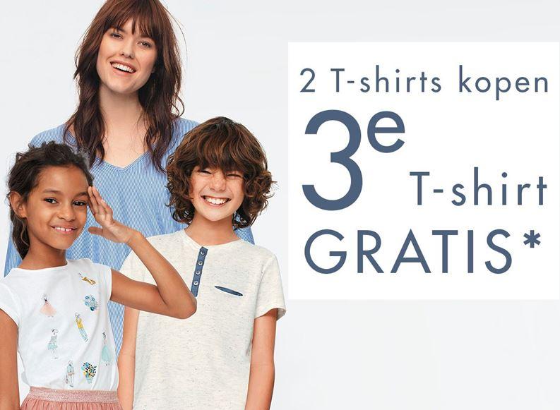 2 + 1 Gratis op alle t-shirts / tops @ Kiabi
