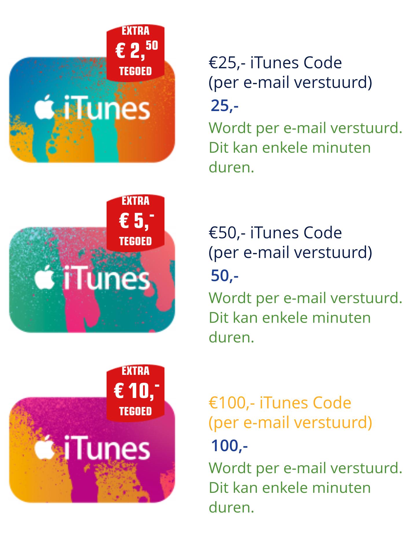10% Extra iTunes tegoed bij Primera
