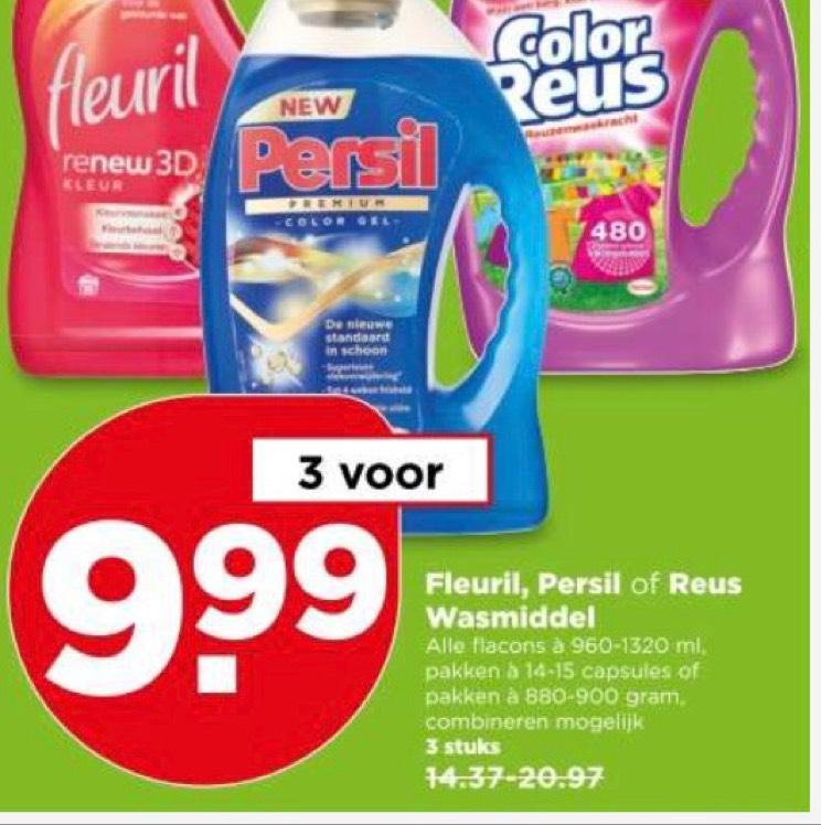 Fleuril, Persil, Reus 3 voor €10 @ Plus