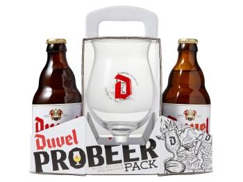 Duvel Probeerverpakking. Duvel + Duvel Tripel Hop + Glas voor € 2,49 @ Hoogvliet