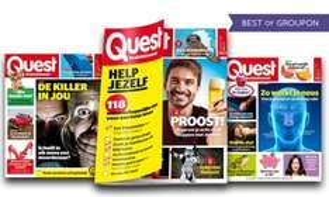 Quest 1 jaar abonnement €31,50 @ Groupon