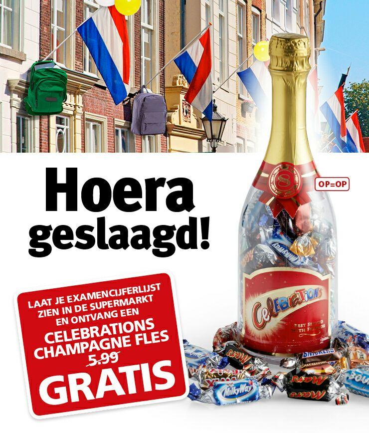 Een fles Celebrations gratis (geslaagden eindexamen) @ JanLinders