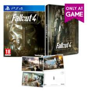 Fallout 4 Steelbook versie met Postcards @ Game.co.uk