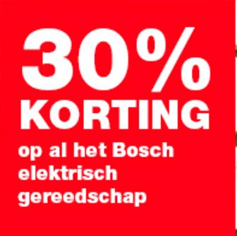 30% korting op (bijna) alle Bosch elektrisch gereedschap @ Praxis.nl