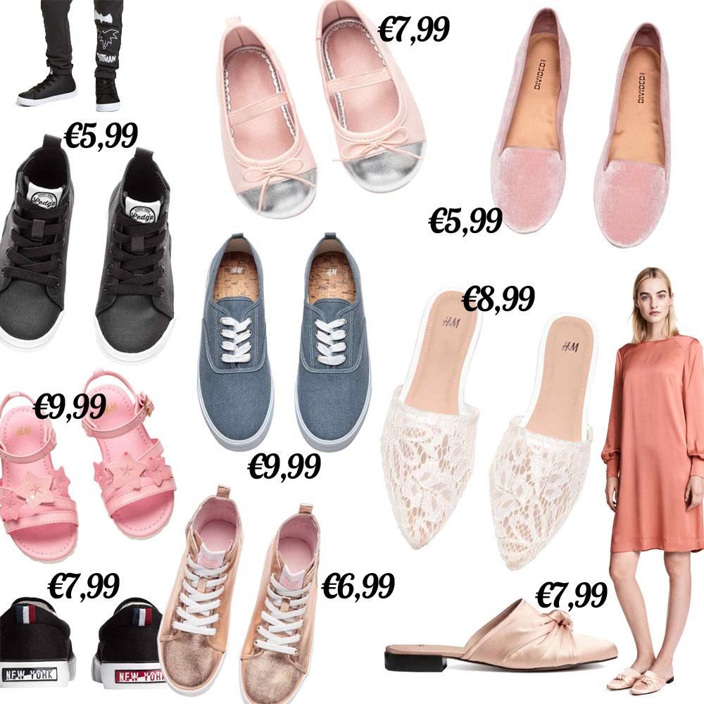 Heel veel schoenen onder €10 + gratis verzending @ H&M