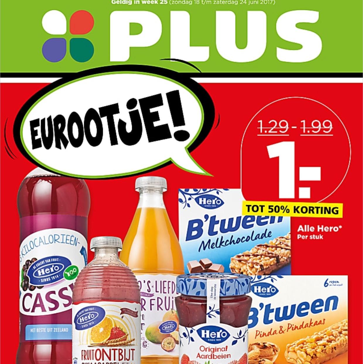 Meer dan 100 aanbiedingen voor € 1,- @PLUS