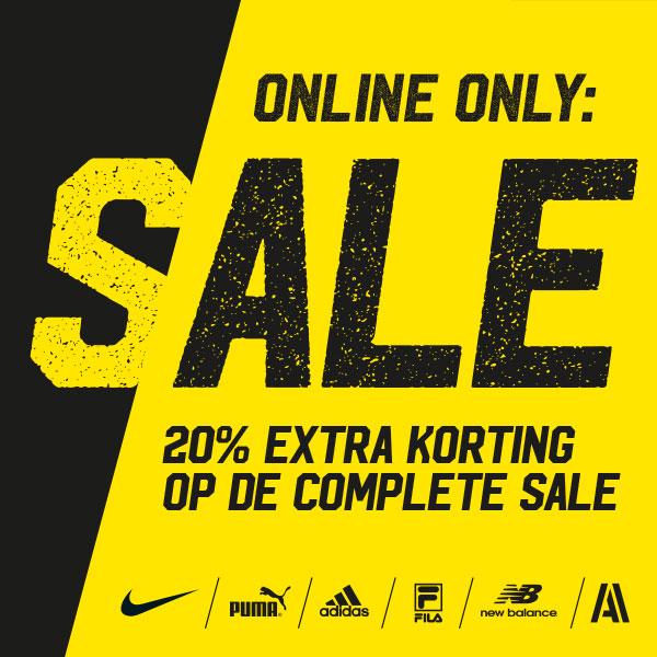 Actie: 20% extra korting op de sale @ Aktiesport
