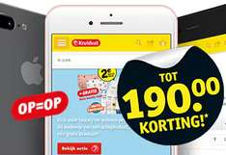 iPhones met korting oplopend tot 190 euro @ Kruidvat